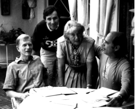 Mark Jones in 1984 at the Holistic Clearing Center, with director Thea Greenberg and her two proteges, Hank Levin (editor of The Free Spirit Journal) and Tim Ryan (founder and CEO of M-audio Corp., who became her successor at the Center)